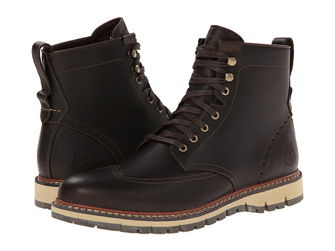 Timberland - Earthkeepers Britton Hill Wing Tip Boot Waterproof (Dark Brown Smooth) Men's Lace-up Boots