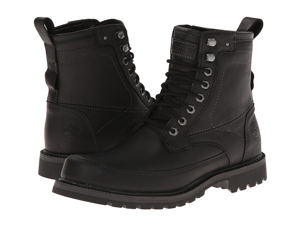 Timberland - Earthkeepers Chestnut Ridge 6 Boot Waterproof (Black Smooth) Men's Lace-up Boots