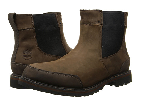 Timberland - Earthkeepers Chestnut Ridge Chelsea Waterproof (Dark Brown Oiled) Men's Pull-on Boots