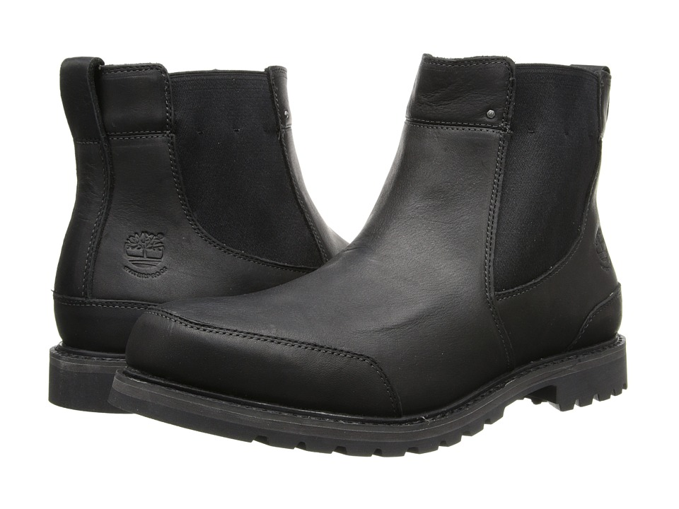 Timberland - Earthkeepers Chestnut Ridge Chelsea Waterproof (Black Smooth) Men's Pull-on Boots