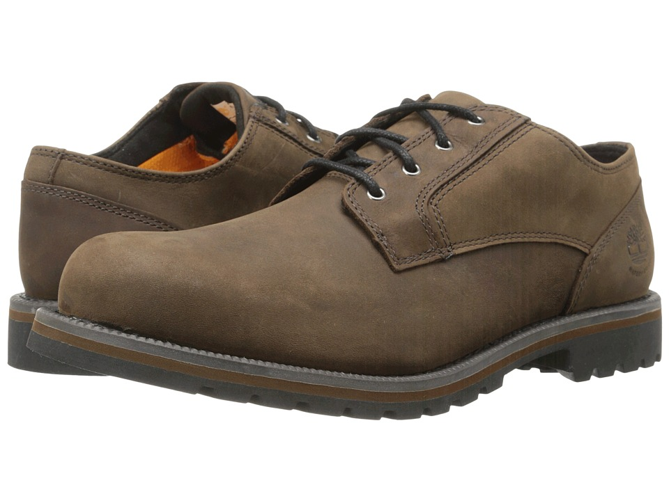 Timberland Earthkeepers Hartwick Plain Toe Oxford Waterproof (Dark Brown Oiled) Men