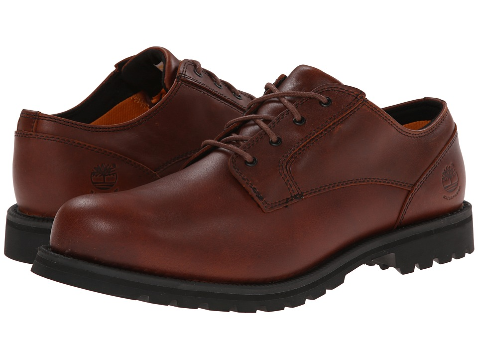 Timberland - Earthkeepers Hartwick Plain Toe Oxford Waterproof (Red/Brown Full Grain) Men