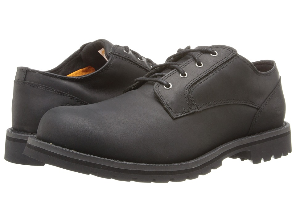 Timberland - Earthkeepers Hartwick Plain Toe Oxford Waterproof (Black Smooth) Men's Lace up casual Shoes