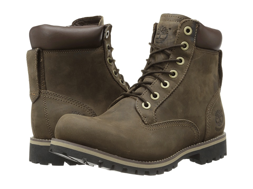 Timberland - Earthkeepers Rugged 6 Boot (Dark Brown Oiled) Men's Lace-up Boots