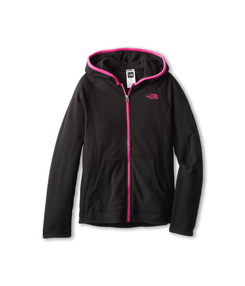 The North Face Kids - Glacier Full Zip Hoodie (Little Kids/Big Kids) (TNF Black) Girl