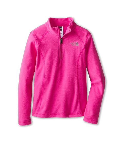 The North Face Kids - Glacier 1/4 Zip (Little Kids/Big Kids) (Azalea Pink) Girl's Sweatshirt