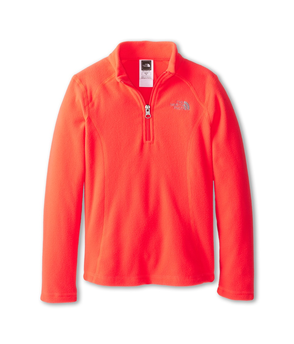 The North Face Kids - Glacier 1/4 Zip (Little Kids/Big Kids) (Rocket Red) Girl's Sweatshirt
