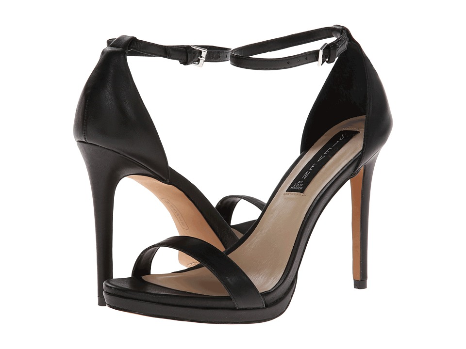 Steven - Rykie (Black Leather) High Heels