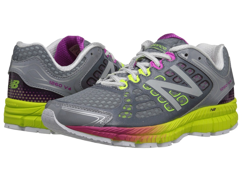 New Balance - W1260v4 (Grey/Yellow) Women's Shoes