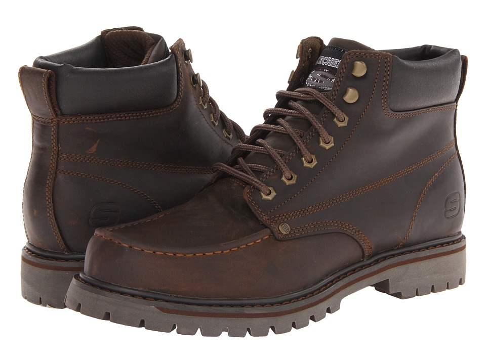 SKECHERS - Bruiser (CDB-Dark) Men's Boots