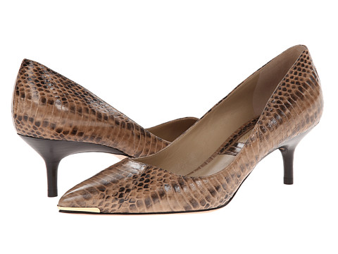 Michael Kors - Trisha (Toffee 18K Genuine Snake) Women's 1-2 inch heel Shoes