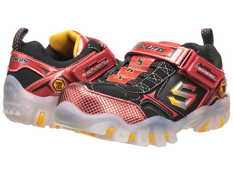 SKECHERS KIDS - Street Lightz - Shiftz 90475L Lights (Little Kid/Big Kid) (Red/Black) Boys Shoes