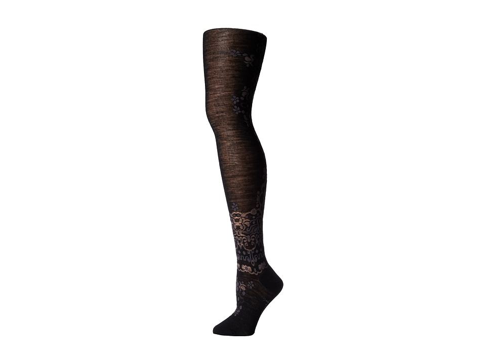 Smartwool - Falling Fable Tight (Black) Women's Crew Cut Socks Shoes