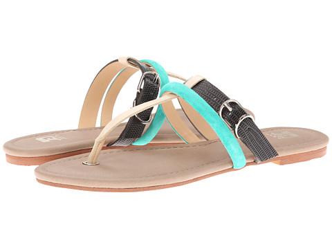 Joe's Jeans - Marchele (Black/Aqua Fabric) Women's Sandals