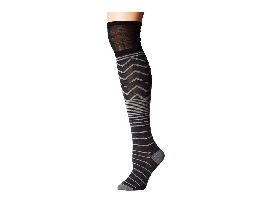 Smartwool - Metallic Optic Frills (Black) Women's Crew Cut Socks Shoes