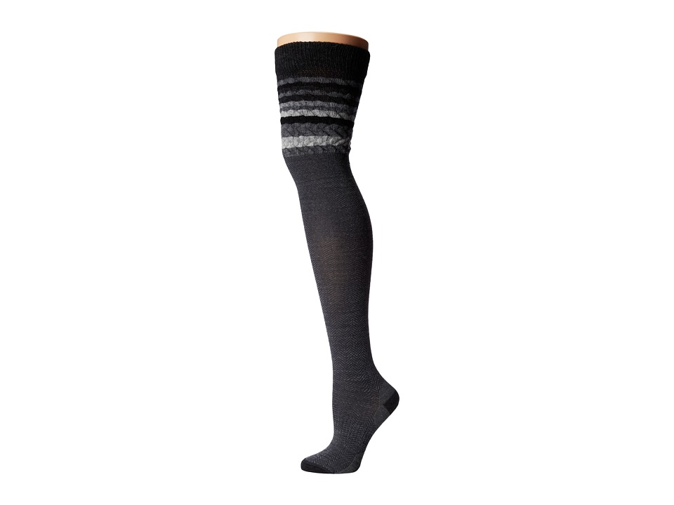 Smartwool - Striped Chevron (Charcoal Heather) Women's Crew Cut Socks Shoes