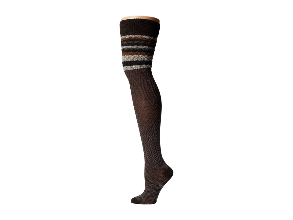 Smartwool - Striped Chevron (Chestnut Heather) Women's Crew Cut Socks Shoes