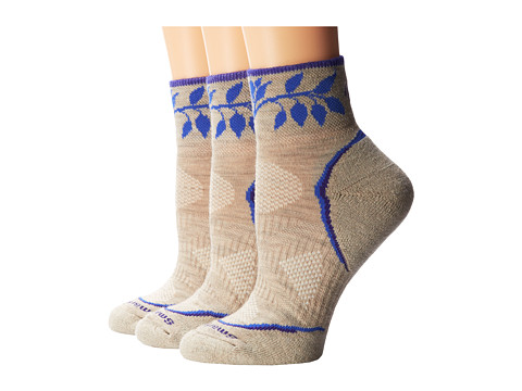 Smartwool - PhD Outdoor Light Pattern Mini 3-Pack (Oatmeal) Women's Crew Cut Socks Shoes