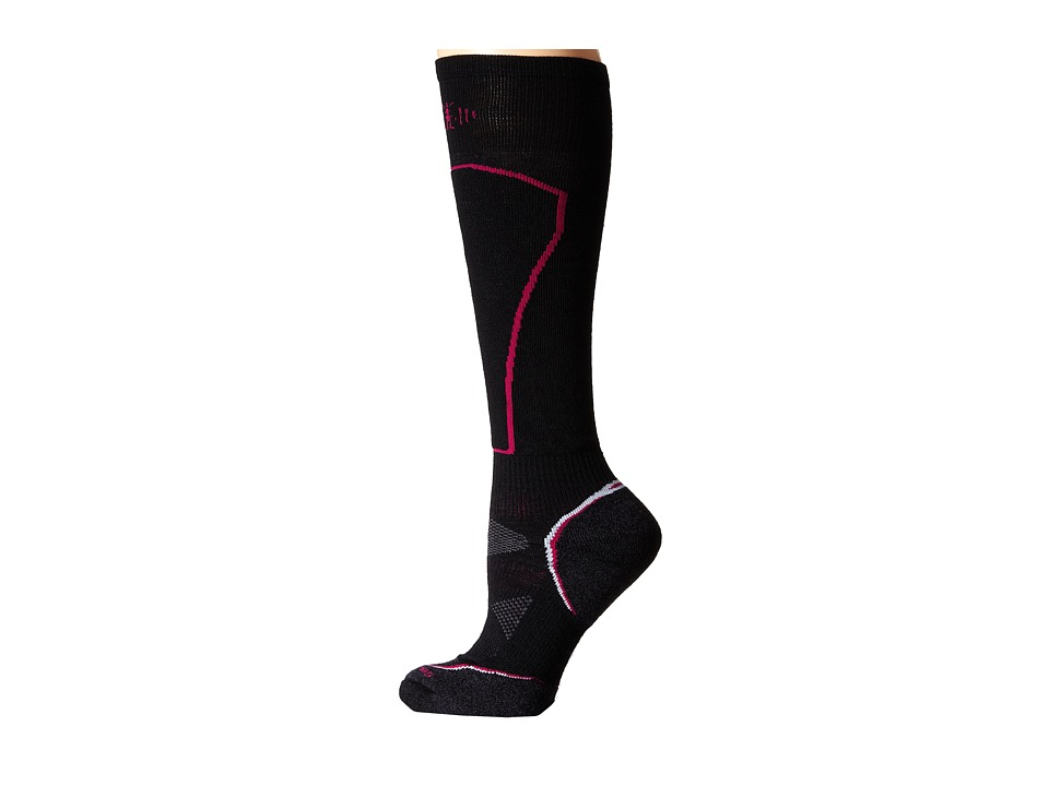 Smartwool - PhD Ski Light (Black) Women's Crew Cut Socks Shoes