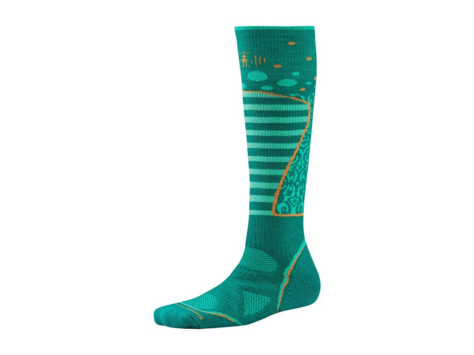 Smartwool - PhD Ski Medium Pattern (Dark Spearmint) Women