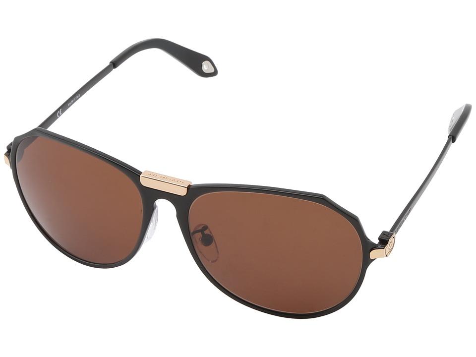 Givenchy - SGV A11 (Shiny Black/Rose Gold/Brown) Fashion Sunglasses