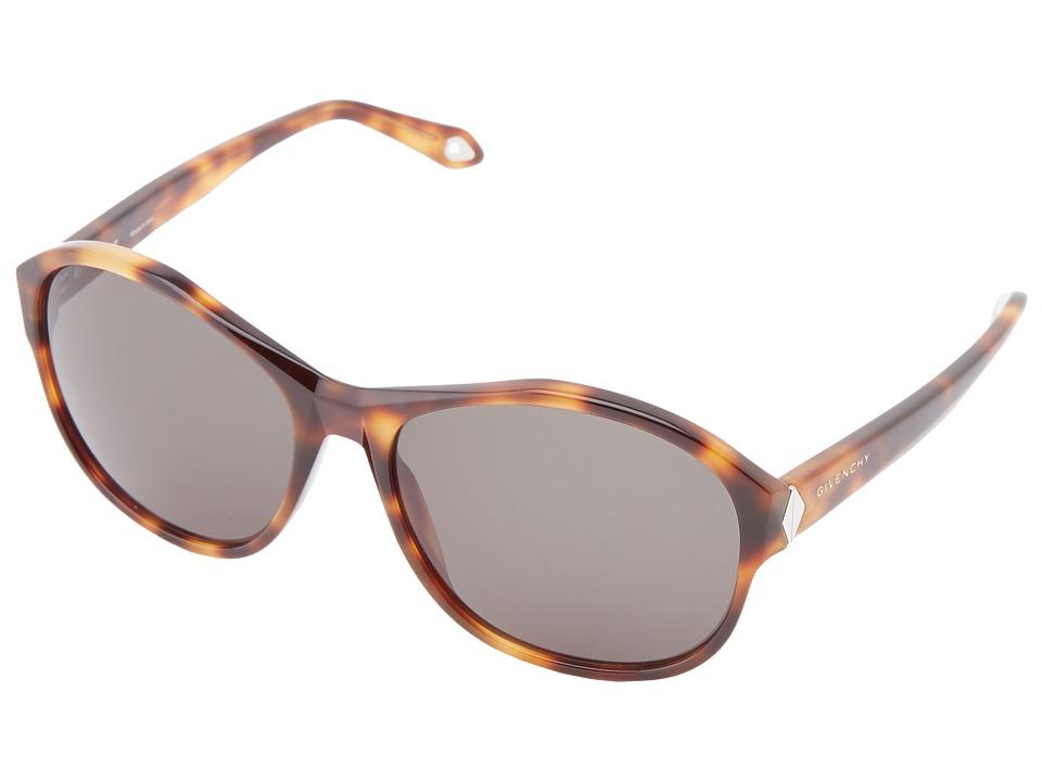 Givenchy - SGV 872 (Shiny Havana/Grey Green) Fashion Sunglasses
