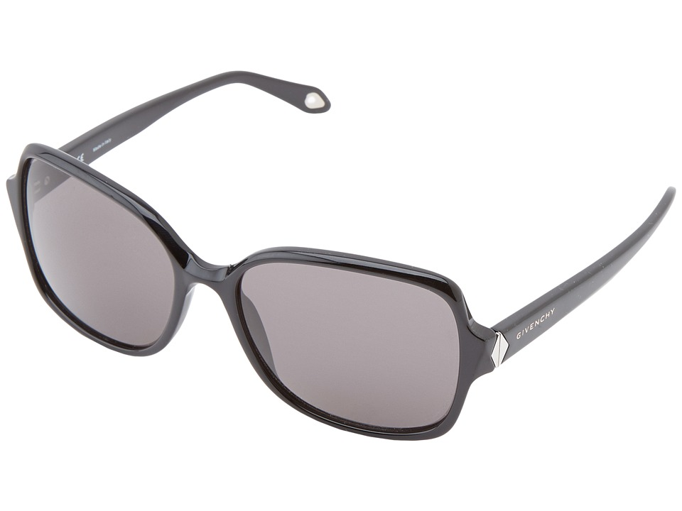 Givenchy - SGV 873 (Shiny Black/Violet/Grey) Fashion Sunglasses