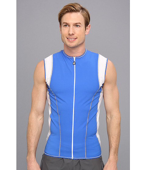 De Soto - Riviera Full-Zip Tri Jersey (Royal/White) Men's T Shirt