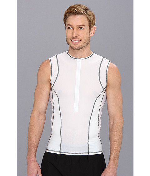 De Soto - Forza Tri Jersey (White) Men's Sleeveless