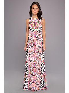 SALE! $214.99 - Save $213 on Mara Hoffman Back Keyhole Gown (Cosmic Fountain Black) Apparel - 49.77% OFF $428.00