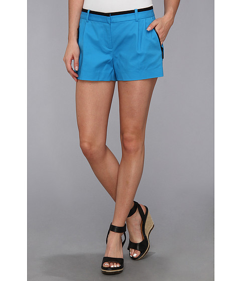 MICHAEL Michael Kors - Pleated Zip Short (Summer Blue) Women's Shorts