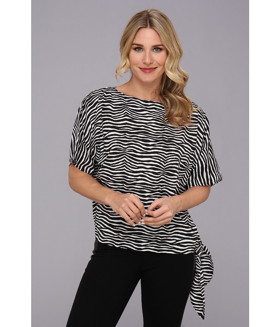 MICHAEL Michael Kors - Roxy Zebra Sidetie Top (Black) Women