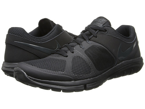 Nike - Flex 2014 Run (Black/Black/Black/Anthracite) Men's Running Shoes