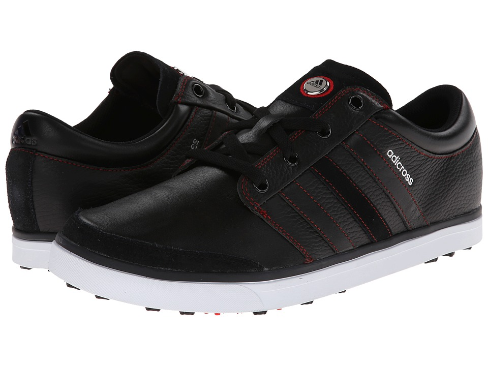 adidas Golf - adicross Gripmore (Black/Running White/Light Scarlet) Men's Golf Shoes