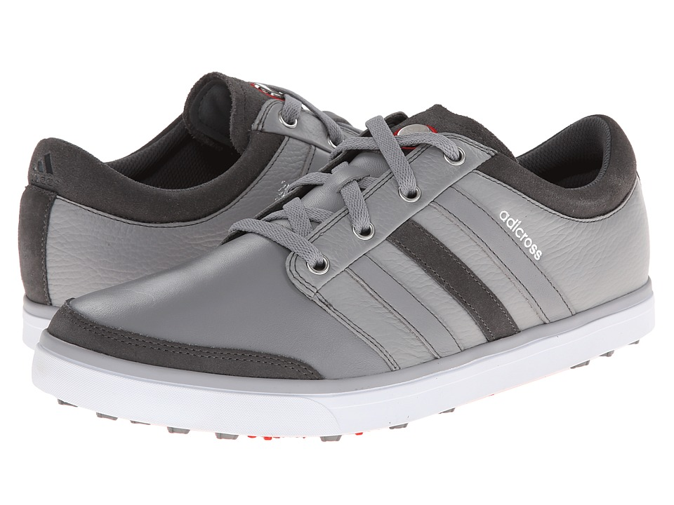 adidas Golf adicross Gripmore (Aluminum/Running White/Light Scarlet) Men