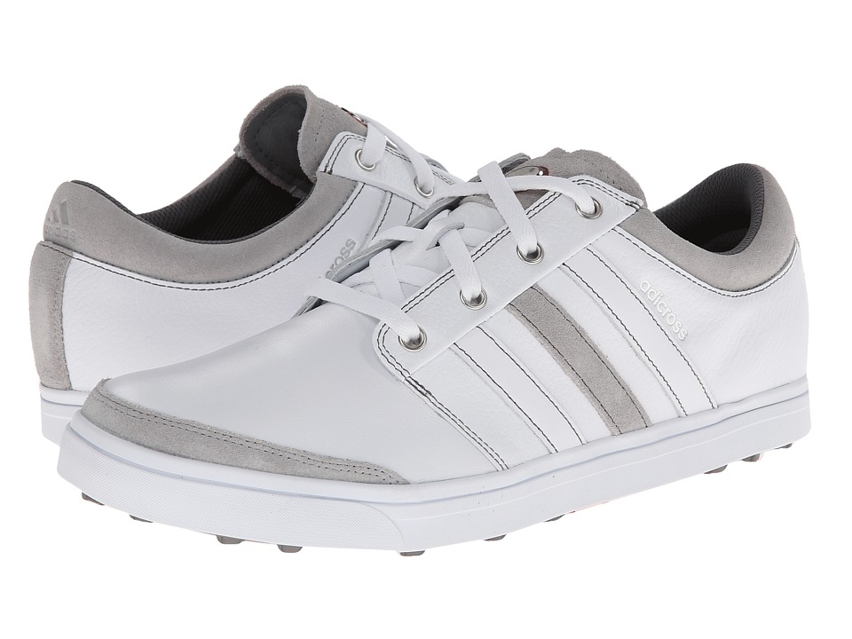 adidas Golf - adicross Gripmore (Running White/Running White/Light Scarlet) Men's Golf Shoes