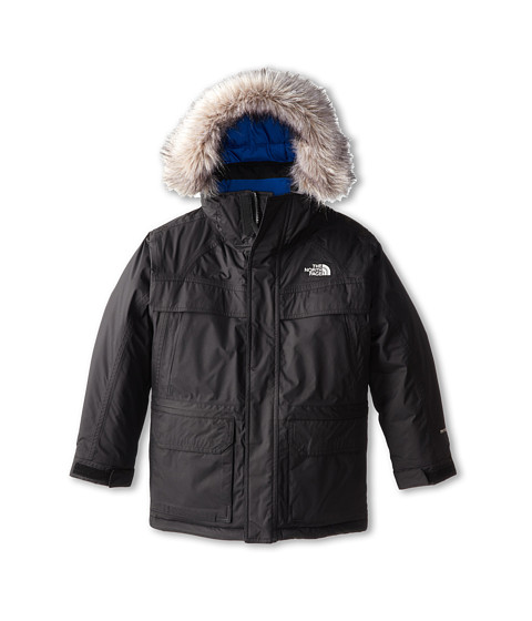 The North Face Kids - Down McMurdo Parka (Little Kids/Big Kids) (TNF Black/Snorkel Blue) Boy's Coat