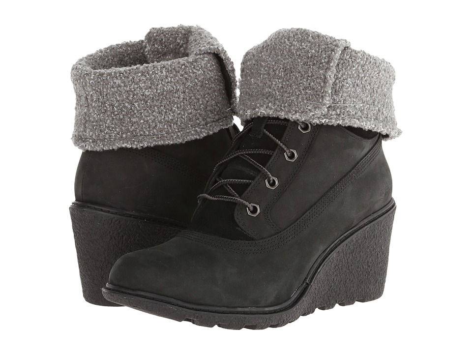 Timberland - Earthkeepers Amston Roll-Top (Black) Women's Lace-up Boots