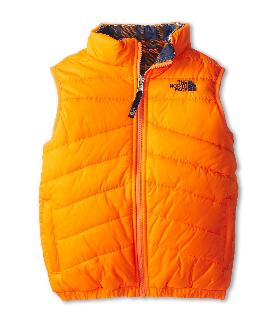The North Face Kids - Reversible Perrito Vest (Little Kids/Big Kids) (Peel Orange) Boy