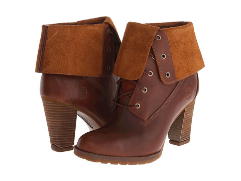 Timberland - Earthkeepers Stratham Heights Waterproof Fold-Down (Glazed Ginger) Women's Lace-up Boots