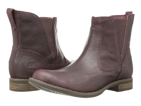 Timberland - Earthkeepers Savin Hill Chelsea (Dark Burgundy) Women's Pull-on Boots