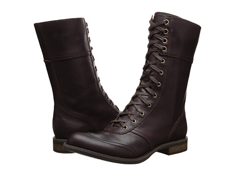 Timberland - Earthkeepers Savin Hill Mid Zip Toe-Cap Boot (Dark Burgundy) Women