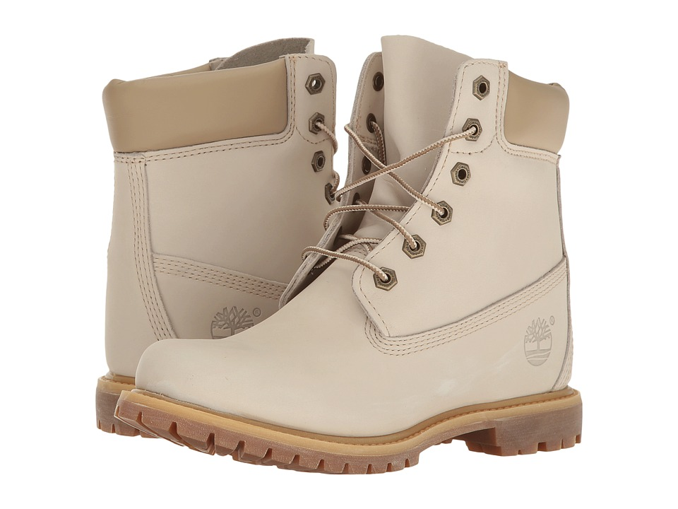 Timberland - Earthkeepers 6 Premium w/ Internal Wedge (Winter White Nubuck) Women's Lace-up Boots