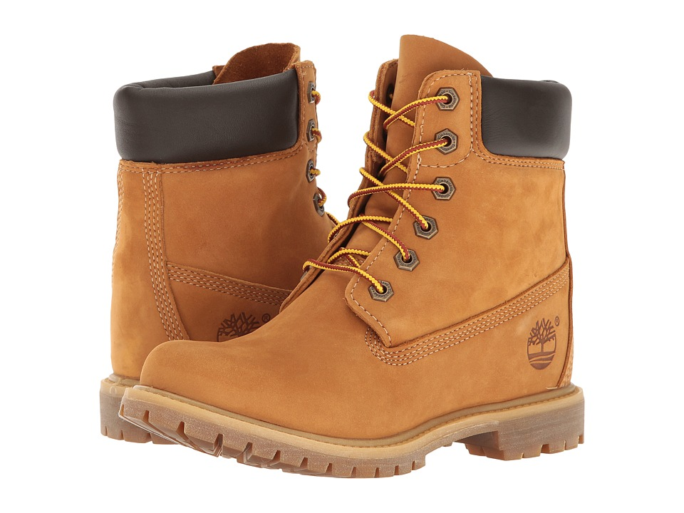 Timberland - Earthkeepers 6 Premium w/ Internal Wedge (Wheat Nubuck) Women's Lace-up Boots