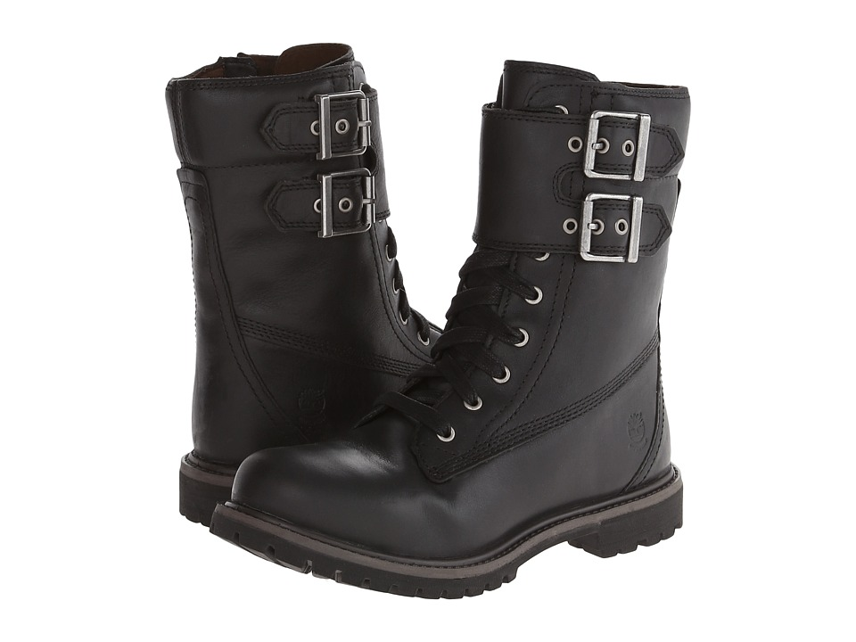 Timberland - Earthkeepers 6 Premium 8 Double Strap Boot (Black) Women's Lace-up Boots