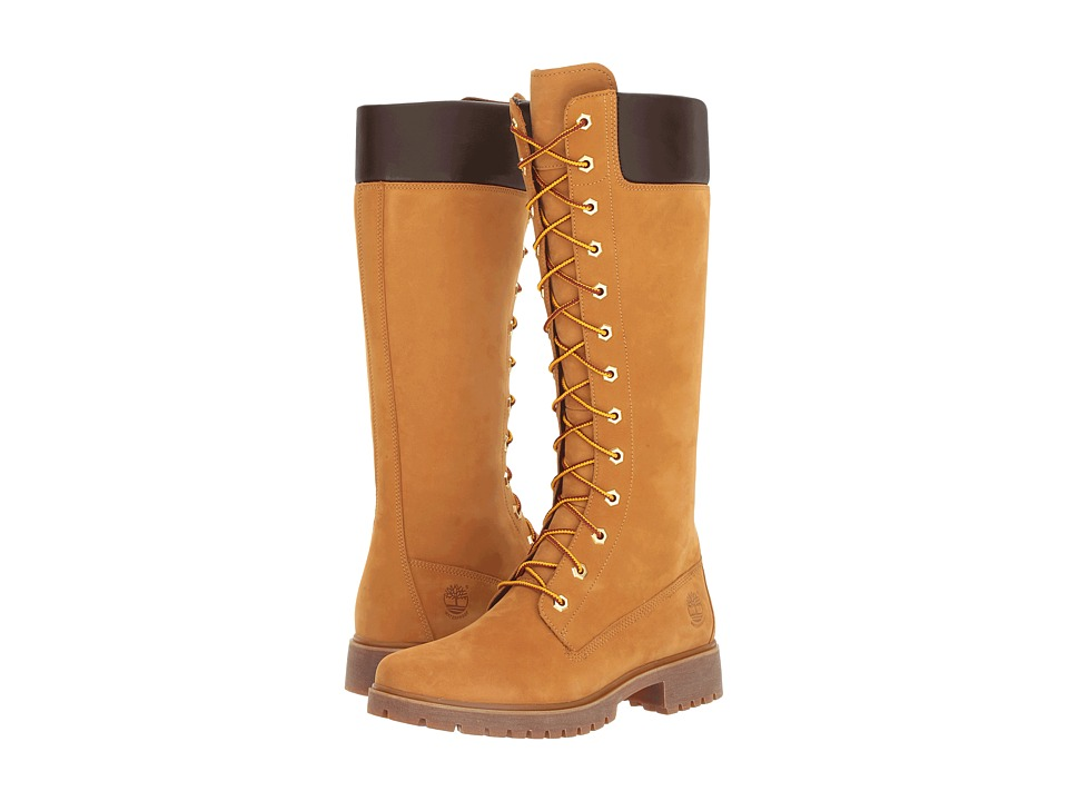 Timberland Earthkeepers(r) Premium 14 Side Zip Boot (Wheat) Women