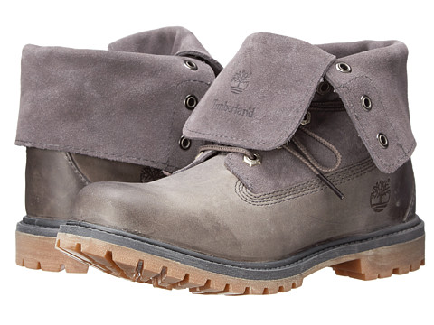 Timberland - Earthkeepers Authentics Suede Roll-Top (Dark Grey) Women's Lace-up Boots