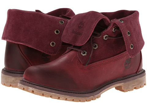 Timberland - Earthkeepers Authentics Suede Roll-Top (Dark Burgundy) Women