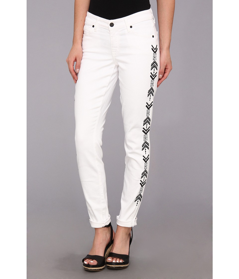 CJ by Cookie Johnson - Wisdom Ankle Skinny Roll-Up w /  Tearing in Optic White (Optic White) Women's Jeans