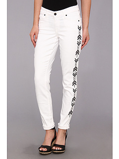 SALE! $84.99 - Save $83 on CJ by Cookie Johnson Wisdom Ankle Skinny Roll Up w Tearing in Optic White (Optic White) Apparel - 49.41% OFF $168.00